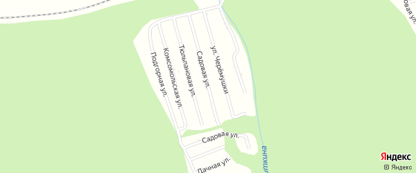 Садовая улица на карте садового некоммерческого товарищества Цементника Бурятии с номерами домов