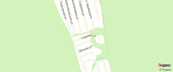 Садовая улица на карте садового некоммерческого товарищества Цементника с номерами домов