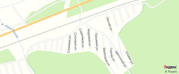 Сиреневая улица на карте садового некоммерческого товарищества Цементника с номерами домов