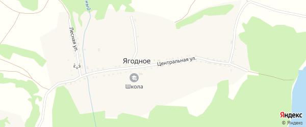 Нагорная улица на карте Ягодного села с номерами домов