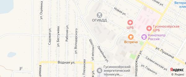 Линейная улица на карте Гусиноозерска с номерами домов