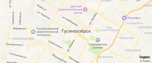 Территория СНТ Подснежник на карте Селенгинского района Бурятии с номерами домов