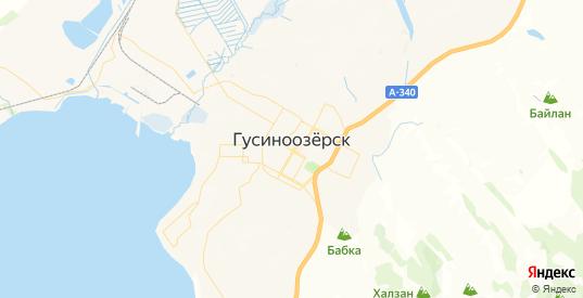 Карта Гусиноозерска с улицами и домами подробная. Показать со спутника номера домов онлайн
