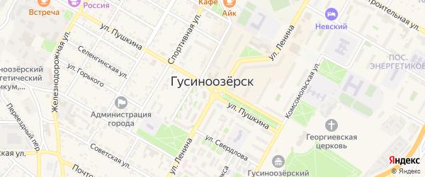 Территория ГК Звездный на карте Гусиноозерска с номерами домов