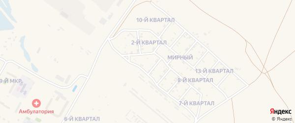 3-й квартал на карте Мирного поселка с номерами домов