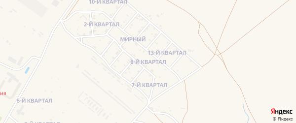 8-й квартал на карте Мирного поселка с номерами домов