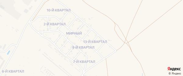 13-й квартал на карте Мирного поселка с номерами домов
