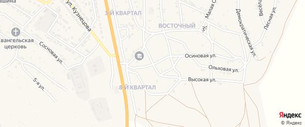 Березовый переулок на карте Восточного поселка с номерами домов