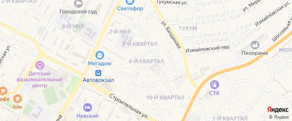 8-й квартал на карте поселка Тухума с номерами домов
