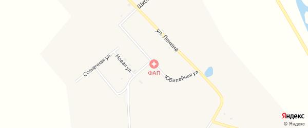 Юбилейная улица на карте села Большое Колесово с номерами домов