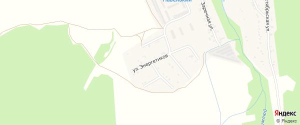 Улица Энергетиков на карте поселка Каменска с номерами домов
