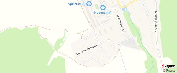 Улица 50 лет Победы на карте поселка Каменска с номерами домов