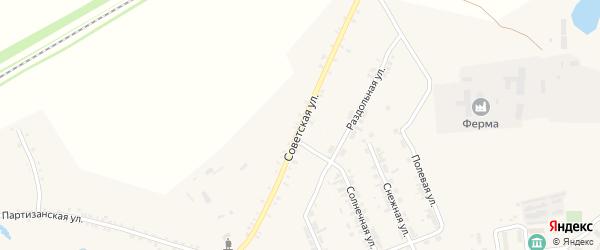 Советская улица на карте села Тимлюя с номерами домов