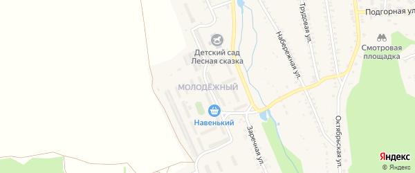 Молодежный микрорайон на карте поселка Каменска с номерами домов