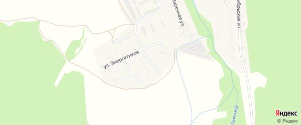 Парковая улица на карте поселка Каменска с номерами домов