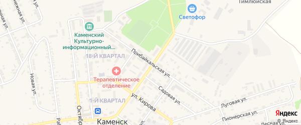 Прибайкальская улица на карте поселка Каменска с номерами домов