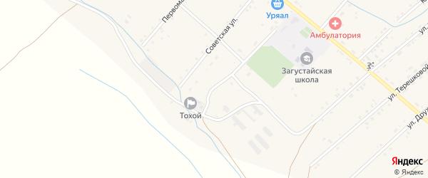 Советский переулок на карте Тохой улуса с номерами домов