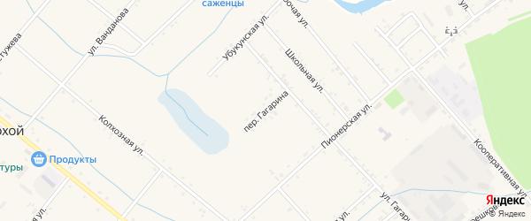 Переулок Гагарина на карте Тохой улуса с номерами домов