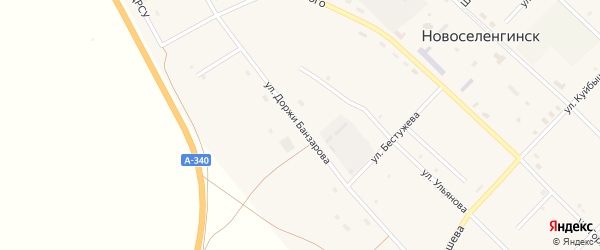 Улица Доржи Банзарова на карте поселка Новоселенгинска с номерами домов