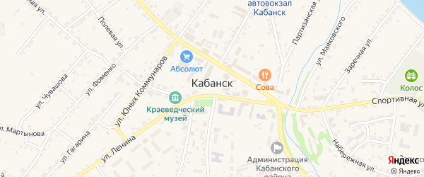 Улица Кашурникова на карте села Кабанск Бурятии с номерами домов