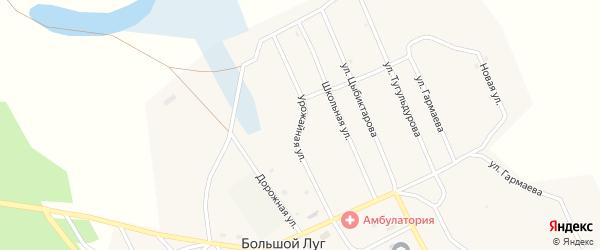 Урожайная улица на карте улуса Большого Луга с номерами домов