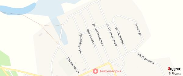 Школьная улица на карте улуса Большого Луга Бурятии с номерами домов