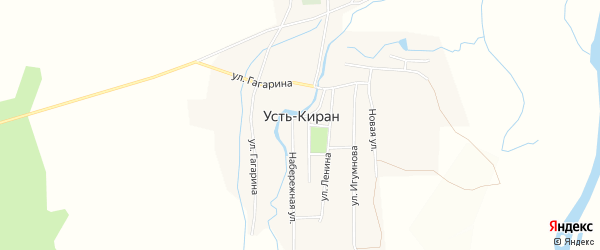 Территория местность ОКХ Кяхтинское на карте села Усть-Кирана Бурятии с номерами домов