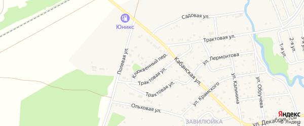 Клюквенный переулок на карте поселка Селенгинска Бурятии с номерами домов
