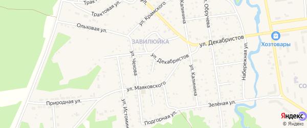 Переулок Декабристов на карте поселка Селенгинска с номерами домов