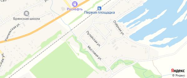 Путейская улица на карте поселка Селенгинска Бурятии с номерами домов
