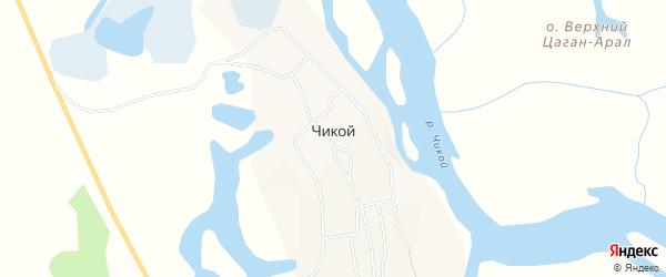 Карта села Чикоя в Бурятии с улицами и номерами домов
