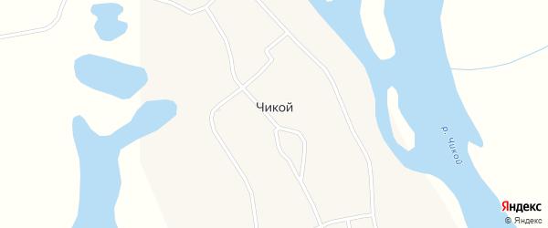 Октябрьская улица на карте села Чикоя Бурятии с номерами домов