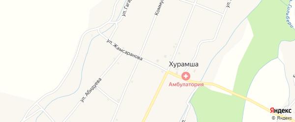 Улица Жамсаранова на карте улуса Хурамша с номерами домов