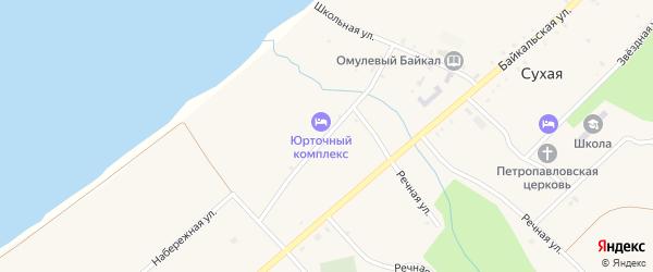 Набережная улица на карте села Сухой с номерами домов