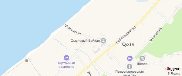 Школьная улица на карте села Сухой с номерами домов