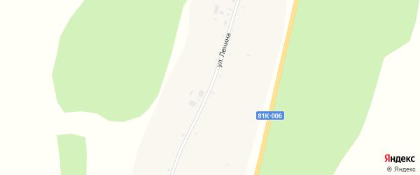 Улица Ленина на карте села Барыкино с номерами домов