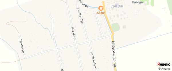 Улица Улан-Туя на карте села Верхней Иволги с номерами домов