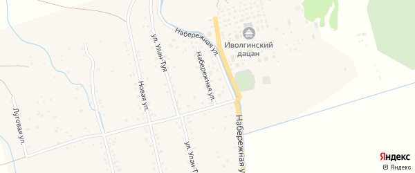 Набережная улица на карте села Верхней Иволги с номерами домов