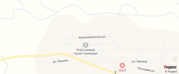 Комсомольская улица на карте улуса Цолга с номерами домов