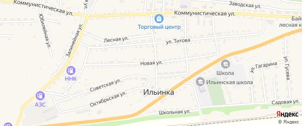 Новая улица на карте села Ильинки с номерами домов