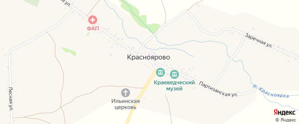 Сад Черемушки на карте села Красноярово с номерами домов