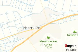 Карта пос. Иволгинск Республика Бурятия