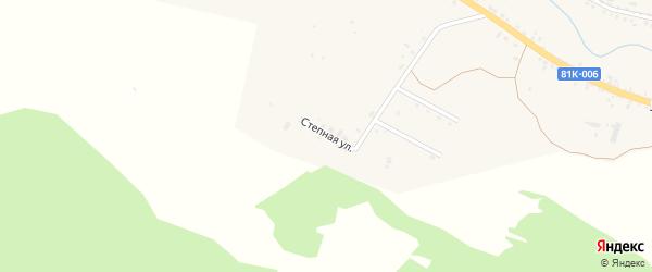 Степная улица на карте села Тарбагатая с номерами домов