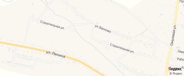 Строительная улица на карте села Тарбагатая с номерами домов