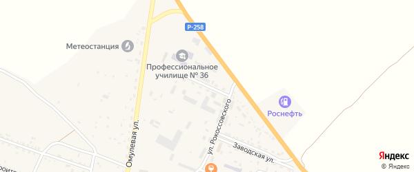 Молодежная улица на карте села Тарбагатая Бурятии с номерами домов