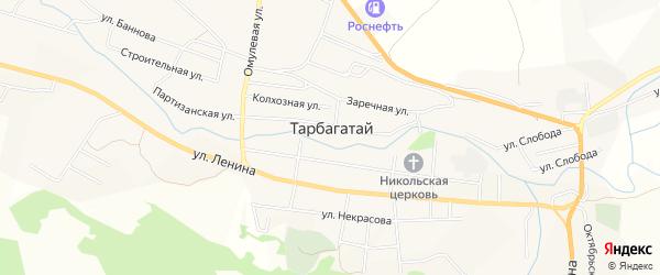 Карта села Тарбагатая в Бурятии с улицами и номерами домов