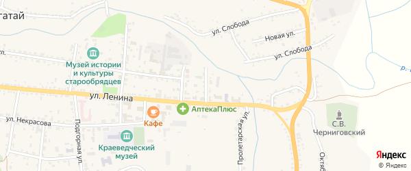 Советская улица на карте села Тарбагатая с номерами домов