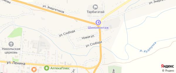 Новая улица на карте села Тарбагатая с номерами домов