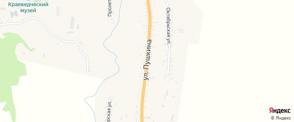 Улица Пушкина на карте села Тарбагатая с номерами домов