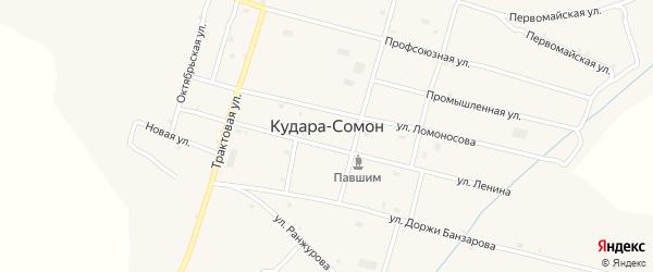 Северная улица на карте села Кудары-Сомон с номерами домов